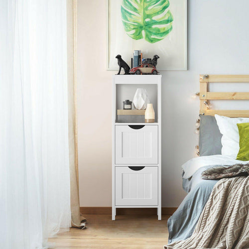 Multifunctional Bathroom Floor Storage Cabinet With 2 Drawers - Vanitiest