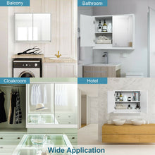 Load image into Gallery viewer, Wall Mounted Bathroom Cabinet with Double Mirror Door and Shelf