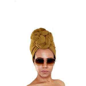 Chic Minimalist Scarf / Head Wrap in Coffee Cream