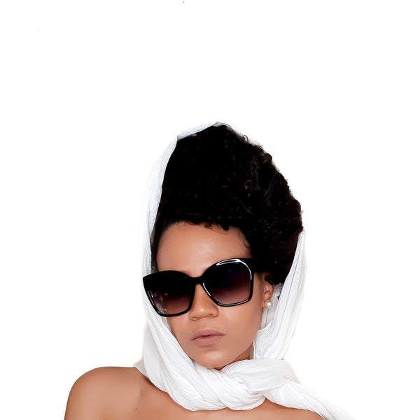 Chic Minimalist Scarf / Head Wrap in Ivory