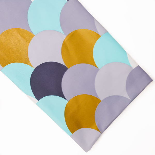 Multi-Coloured Print Head Wrap - Brave Bae in MINT GREY