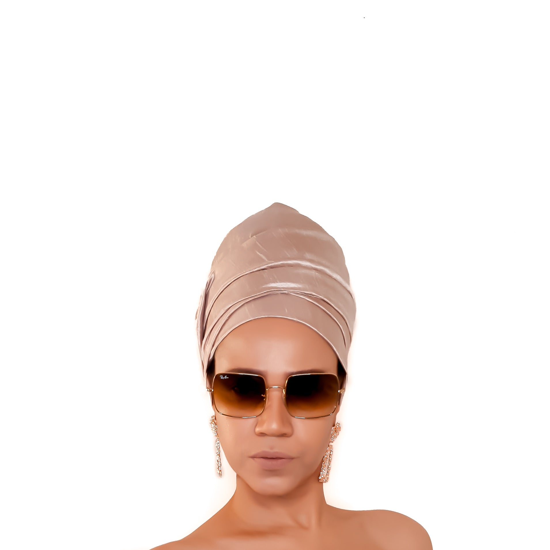 Raw Silk Scarf / Head Wrap in Pearl Cream