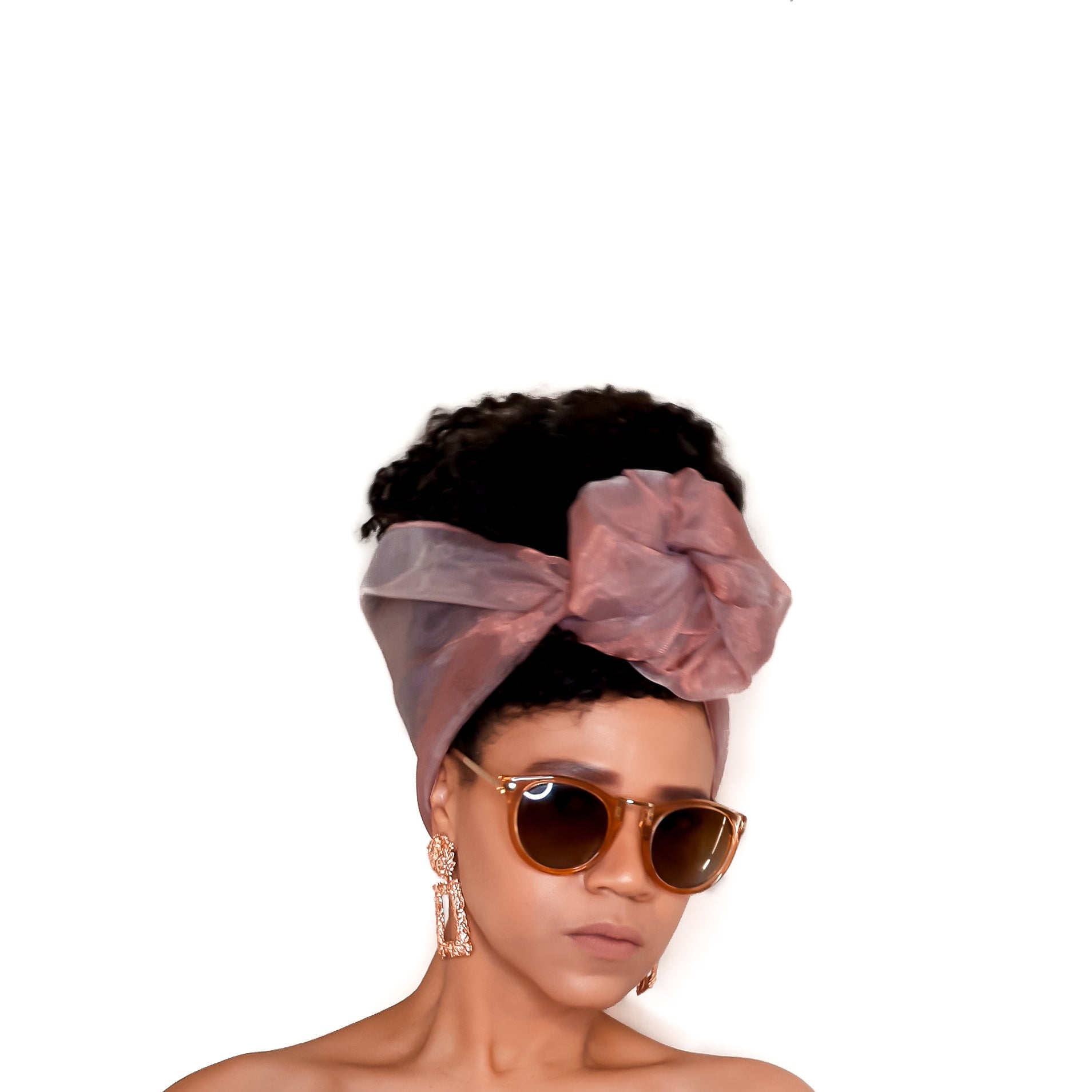 Organza Head Wrap - Endless Summer in MILLENNIAL PINK