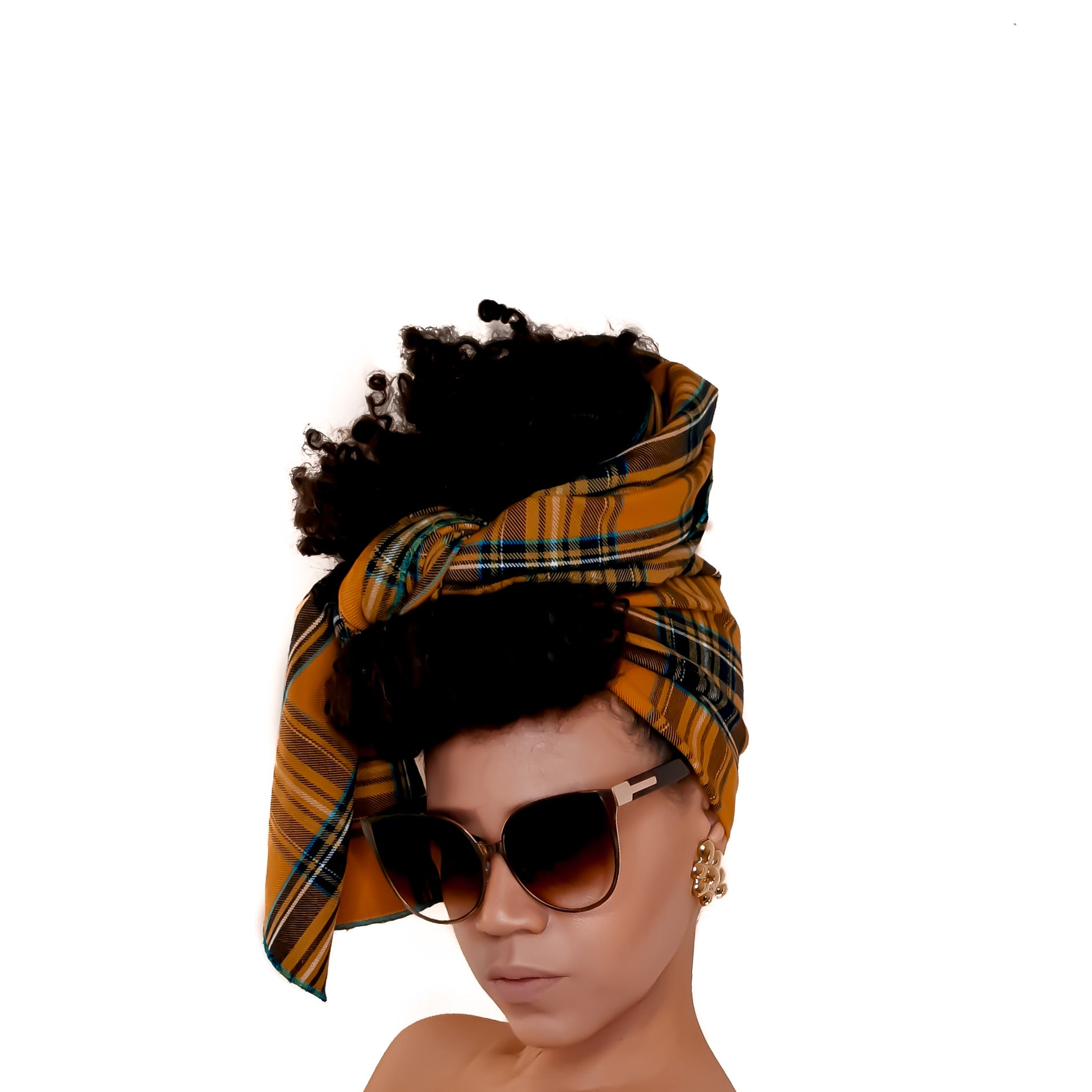 Check Print Head Wrap - Brave Bae in SUMMER CHECK