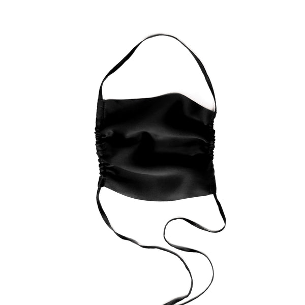 Stylish Sustainable and Washable Silk Face Mask - Black