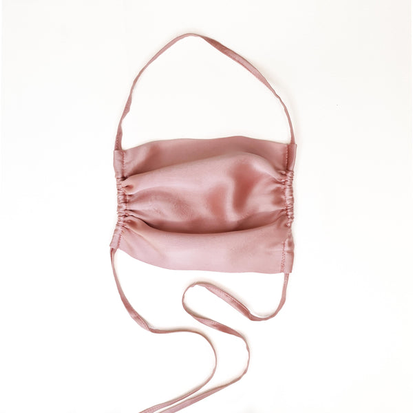 Stylish Sustainable and Washable Mulberry Silk Face Mask - Millennial Pink