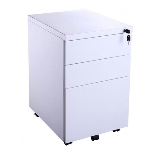 white office pedestals