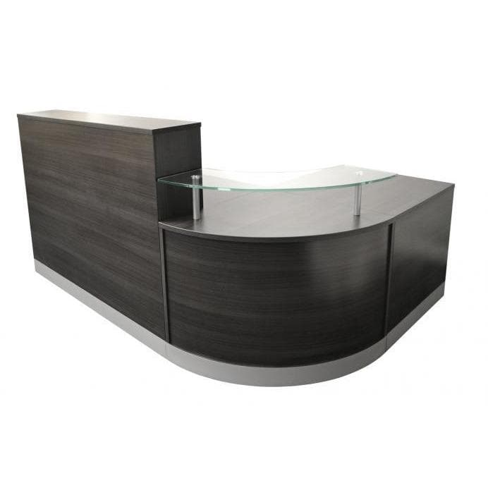 l shaoed reception counter