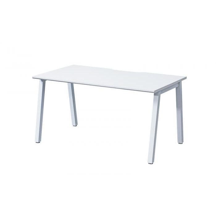 single white office desk
