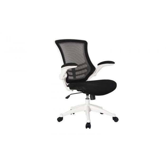 Black Mesh & White Base Office Chair