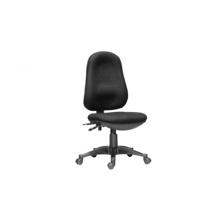 Black fabric Operator Office Chair