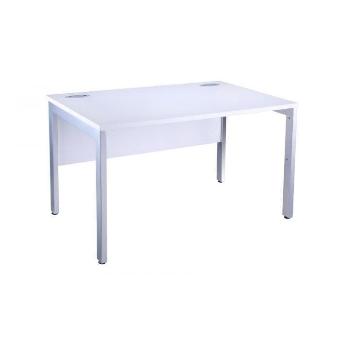 White Bench desk OI Range Silver Leg