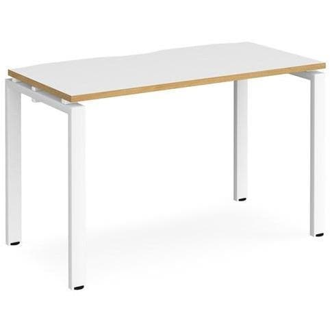 Slim white bench desk
