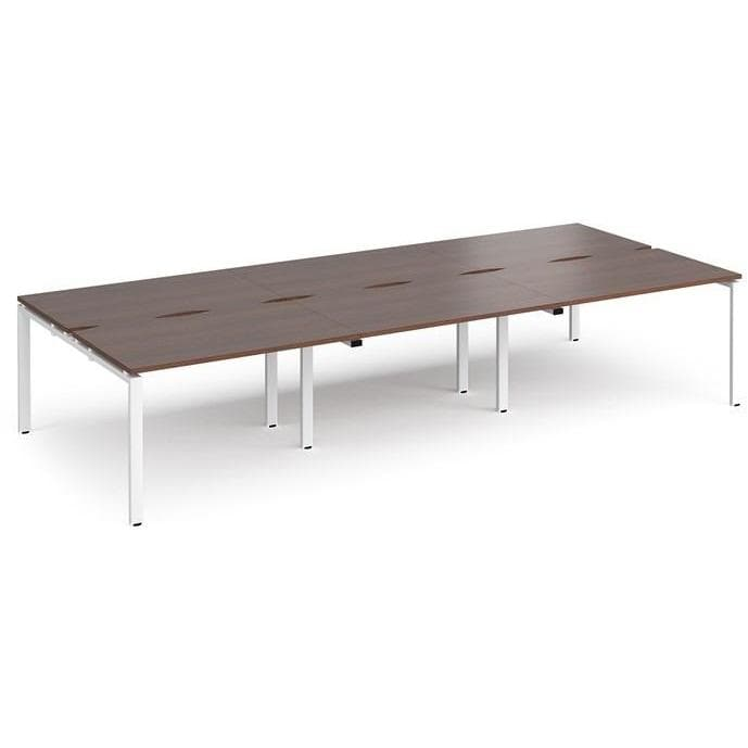 triple bench desk