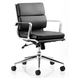 leatehr office chair with arms