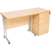 Straight desk with pedestal