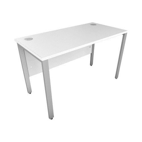 White Bench Desk 600mm Deep ICW