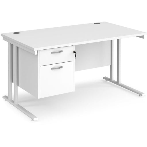 straight desk 2 drawer pedestal