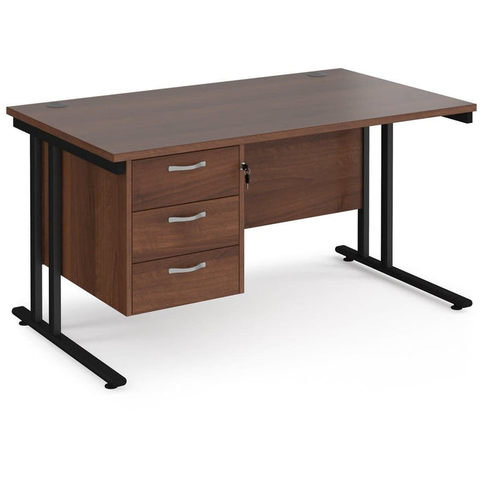 straight desk 3 drawser pedestal