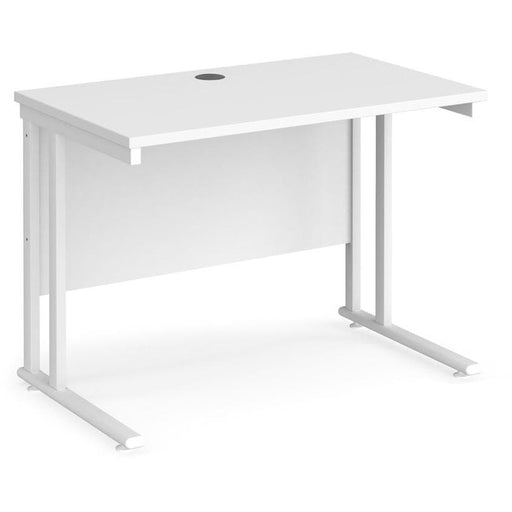600mm deep straight desk