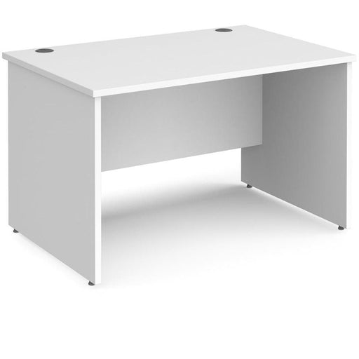 white straigh office desk