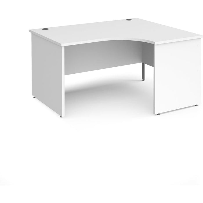 panel leg desks in white and other