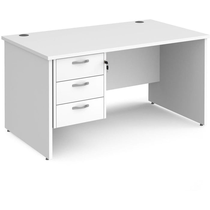 panel office desk with storage