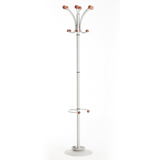 silver office coat stand