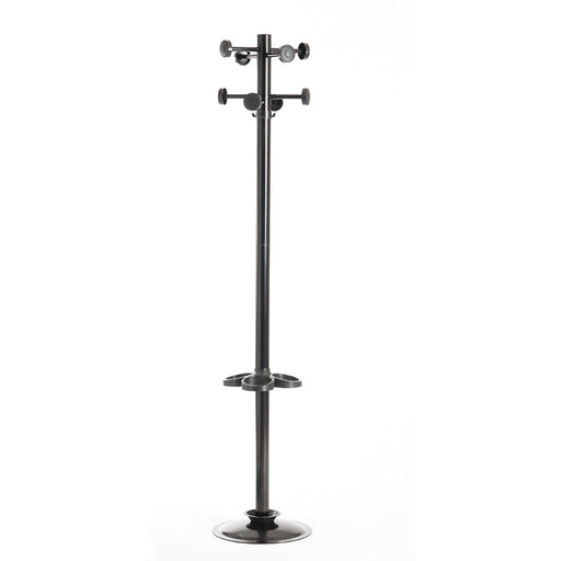 black office coat stand