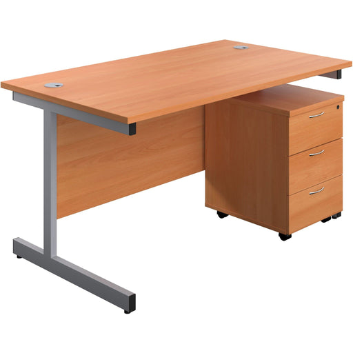 straigh office desk