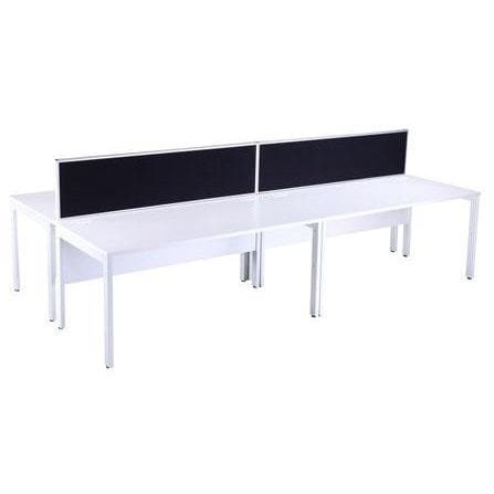 white Four person bench deks