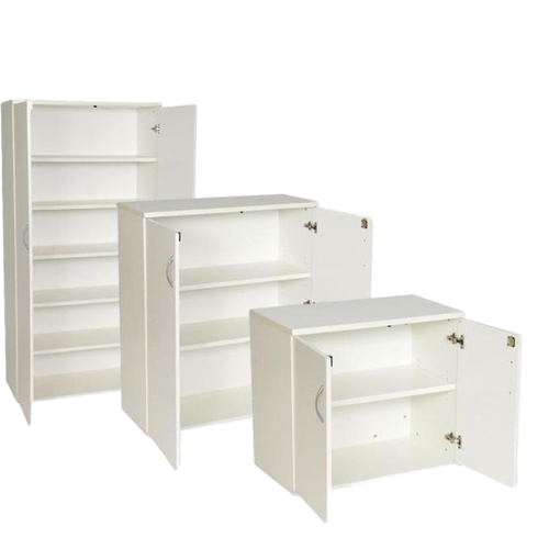 white office cupboards