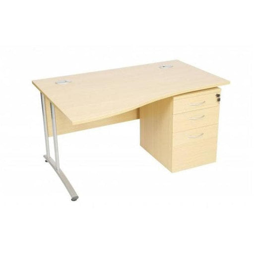 Wave desk with 3 drawers