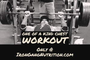 ONE OF A KIND CHEST WORKOUT