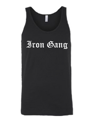 "PERFORMANCE MENS TANK TOP - ""OLD E"" IRON GANG NUTRITION LOGO - BLACK"