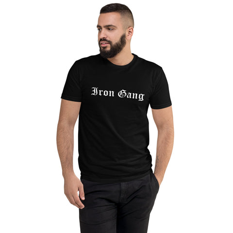"""OLD E"" IRON GANG LOGO TEE - BLACK"