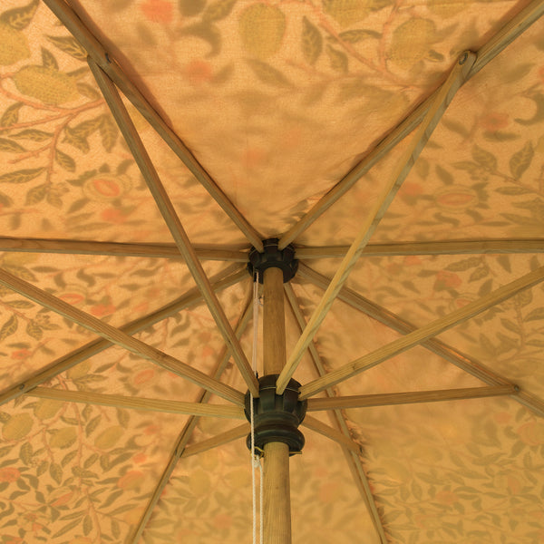 Bill 1 Octagonal Parasol with a fruity William Morris print