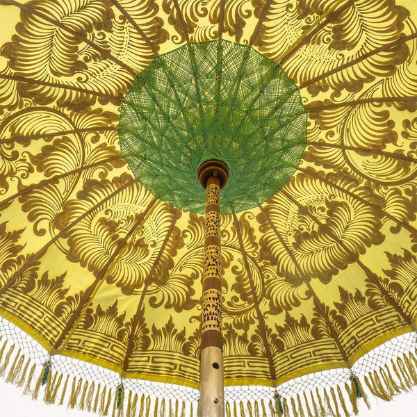 Goldie (2m) Round Bamboo Parasol - IN STOCK