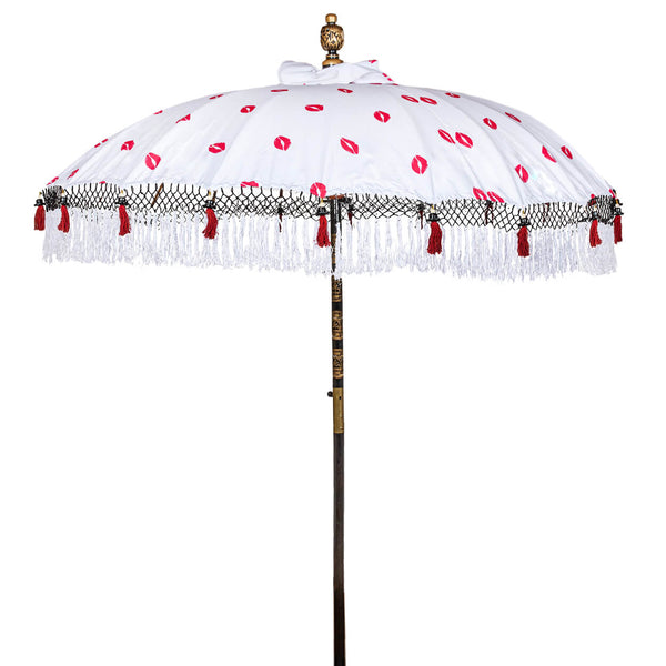 Iain Bamboo Parasol red lips pattern product shot