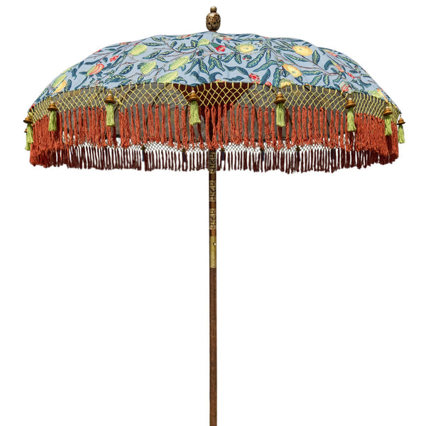William (2m) Round Bamboo Parasol -