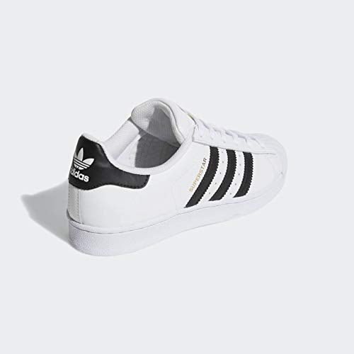 adidas Originals Women's Superstar Sneaker, White/Black/White, 7.5 - Epivend