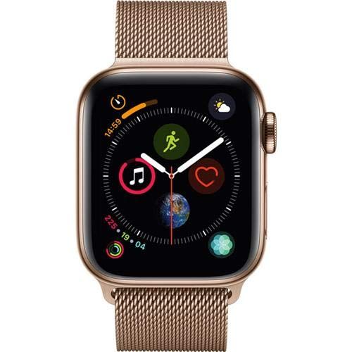 Apple Watch Series 4 (GPS + Cellular, 40mm) - Gold Stainless Steel Case with Gold Milanese Loop - Epivend