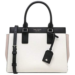 Kate Spade New York Cameron Medium Satchel Purse (Bright White/Warm Beige/Black) - Epivend