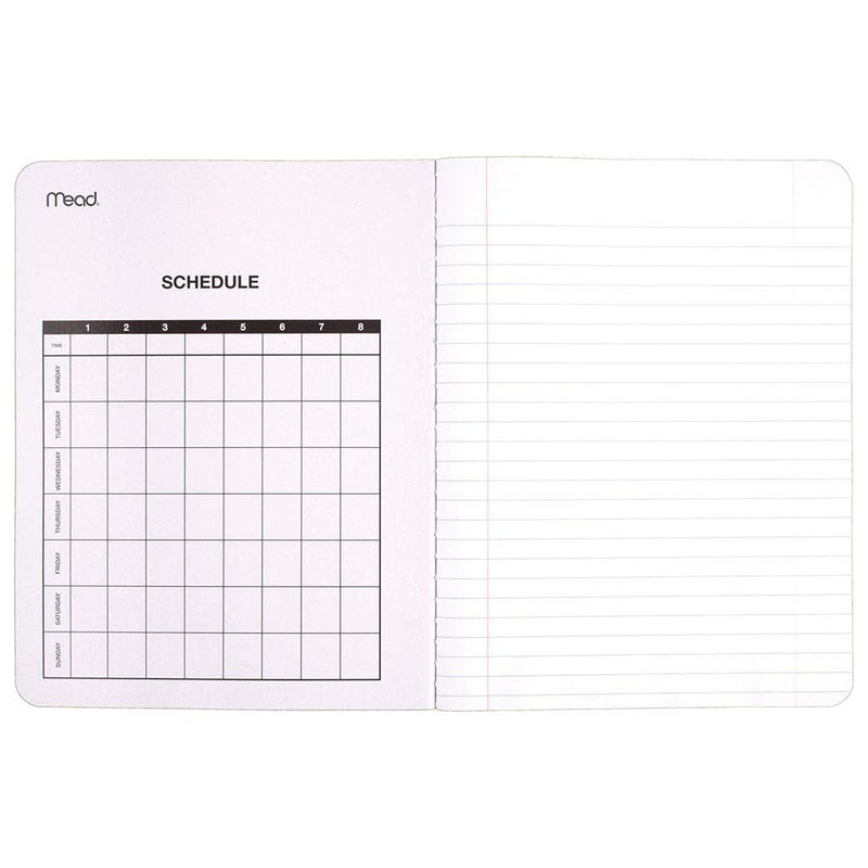 Mead Composition Notebooks, Comp Books, Wide Ruled Paper, 100 Sheets, 9-3/4 inches x 7-1/2 inches, Classic Black Marble, 12 Pack (72936) - Epivend