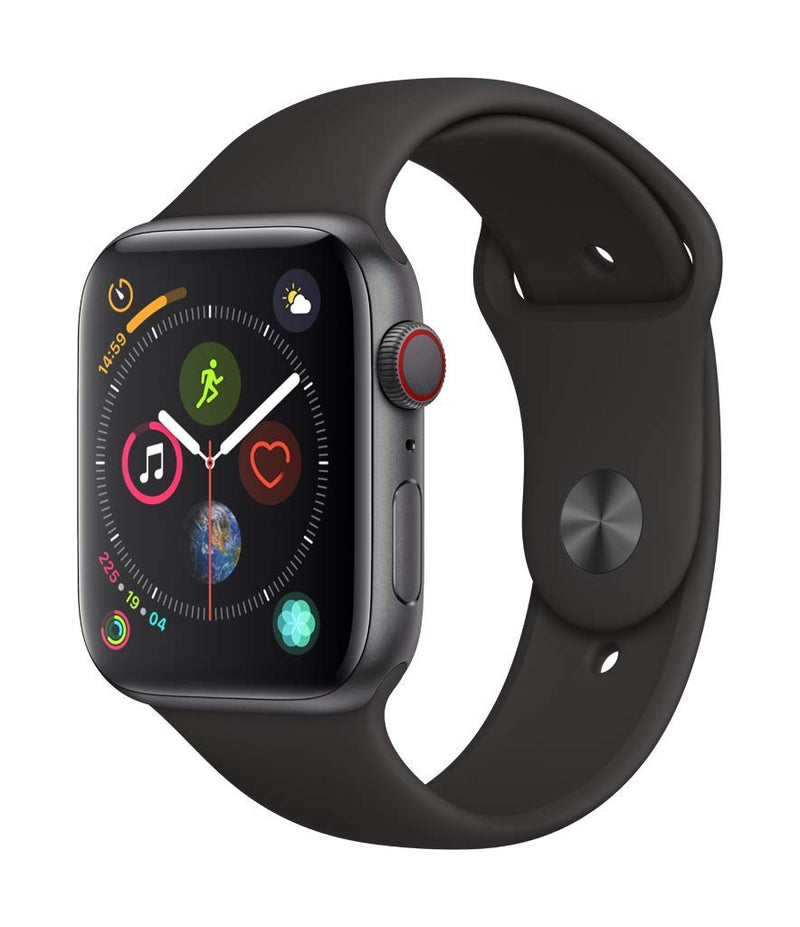 Apple Watch Series 4 (GPS + Cellular, 44mm) - Space Gray Aluminum Case with Black Sport Band - Epivend