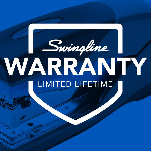 Swingline Stapler, Optima 25, Full Size Desktop Stapler, 25 Sheet Capacity, Reduced Effort, Blue/Gray (66404) - SWI66404 - Epivend