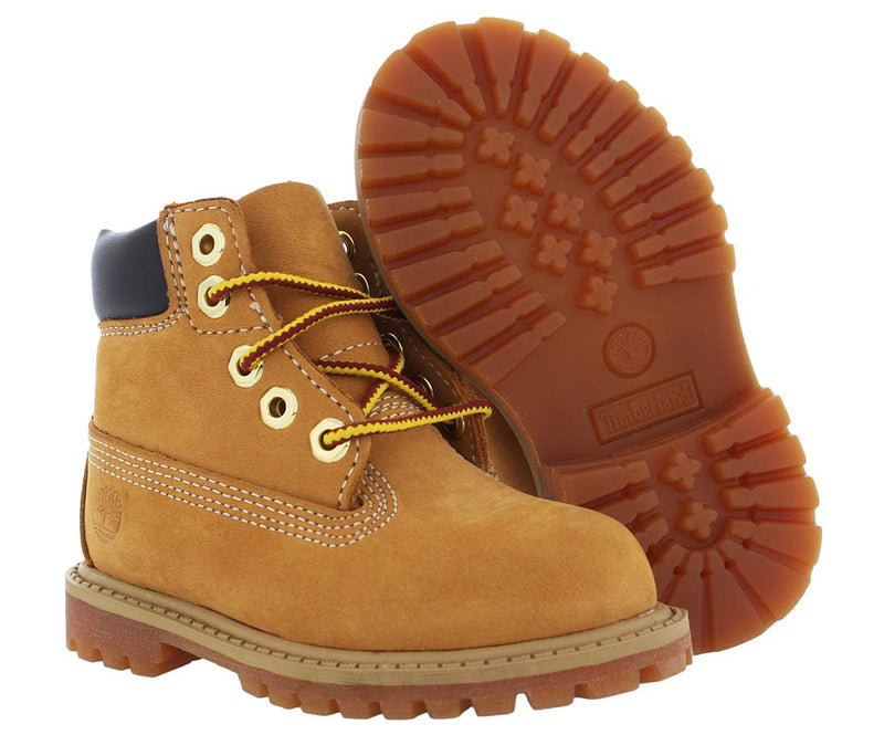 "Timberland unisex-baby 6"" Classic Boot 6"" Premium Waterproof Boot Wheat Nubuck Majority Leather with Synthetic 6M - Epivend"