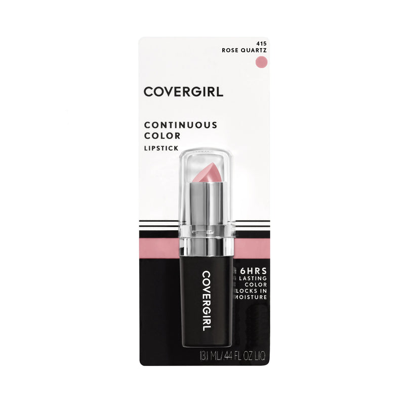 COVERGIRL Continuous Color Lipstick Rose Quartz 415, .13 oz (packaging may vary) - Epivend