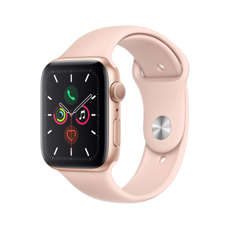 Apple Watch Series 5 (GPS, 44mm) - Gold Aluminum Case with Pink Sport Band - Epivend