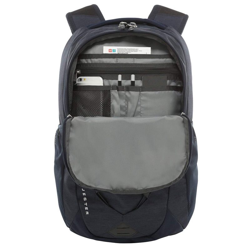 The North Face Jester Backpack, Urban Navy Light Heather/TNF White, One Size - Epivend